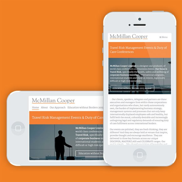 Responsive web design portfolio for SMEs