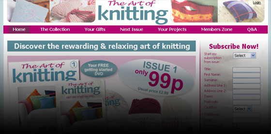 Art of Knitting website