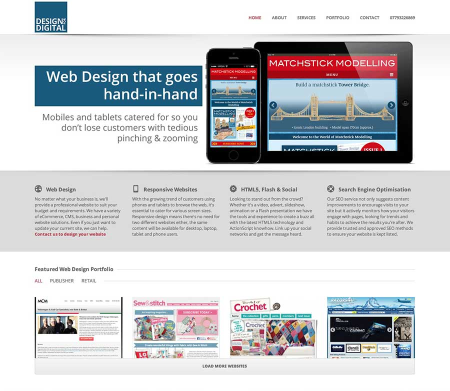 Responsive desktop layout